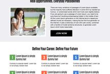 employment opportunity landing page design