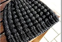 Knitting | Hats & Beanies / A board for knitted hats and beanies for adults.