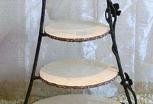Cake stand wrought iron