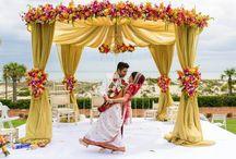 Indian Wedding Non-Gazebo Mandaps / Mandap Inspiration when there's no gazebo to build it on.