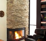 Stone Fireplaces / Natural thin stone veneers on fireplaces.