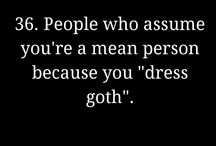 goth problems/goth quotes