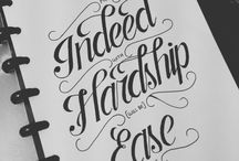 Hand-lettering & Typography