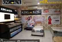King Koil Mattress / R.K. Foam House Pvt. Ltd. is one of the most trusted suppliers of King Koil Mattress In Delhi. If you actually want to experience sleeping on the cloud then our King Koil mattress range is something you need. It is made with high-quality foam and with the best technique, which makes it an ideal sleep solution.