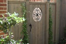 Wooden Gate with Iron insert ideas