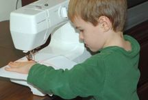 Lance wants to sew! / by Melissa Johnson