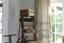 Books as decor / The wonderful world of books or any reading matter, ideas which share and show them