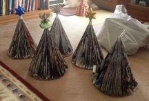 Hand made Christmas trees / Hand crafted Christmas trees