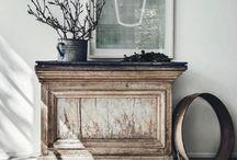 Dressers / Vintage Farmhouse  Antique Old Worn Wood White