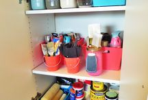 Paint Storage Organization / Store leftover paint in mason jars