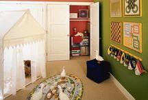 Green and yellow playroom