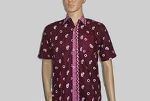 Baju Batik Pria, Hem Batik Jumputan H1293