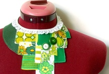 textile jewellery flowers