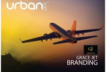 GraceJet | Branding + Web / The #Urbansoft team rocking the awesome branding project for #GraceJet #SocialBusiness #Social Media #Branding #Creative  Check out the website by clicking the link:  http://grace-jet.com/