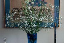 テーブル コーデ  花器 など