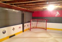 Garage inline hockey rink
