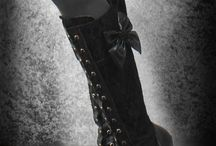 Lace Boots, then corset.  Shoes, Boots, feet coverings. I love my feet / Lace Boots, then corset.  Shoes, Boots, feet coverings. I love my feet