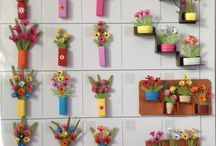 Miniature paper flowers creations