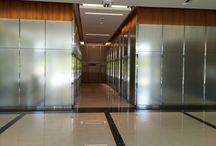 Glass Interior Wall Panels / SEFAR Vision Glass Mesh Fabric used in Interior Applciations