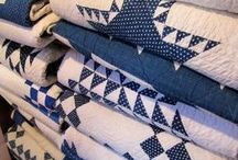 White Blue quilts