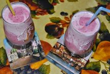 Shake raspberries and bananas