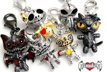 Frightlings Charms / Frightlings are a New and Exclusive breed of Sterling Silver charms, pendants and beads. This beautifully detailed jewellery is a mixture of 14ct/18ct yellow and white gold plated with hand painted enamel touches. Each stunning character has its own name and personality and comes with a poem sheet. http://www.myfrightlings.com/