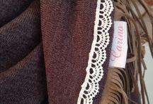 Carino Sjaals / Handgemaakte satijnen sjaals