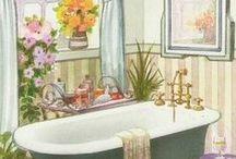 banyo temalı dekupaj
