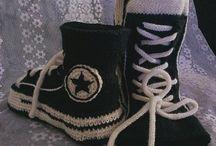 Converse tennari sukat / Neulottua ja virkattua
