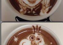 Disney latte art / Wie krijgt er al trek in een kopje koffie.....