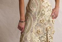 vestido de novia crochet Irlandes