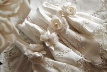 Linens, Old and Well Loved / There is something so very special about old linens... the smell, the feel, the time taken to create them.