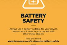 Battery Safety / E-cig battery safety is important stuff. That's why we include safety info cards with all IMR batteries, as well as talking our customers through the do's and dont's.  http://www.jacvapour.com/e-cigarette-battery-safety