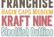 Crafts/Sew- Fonts / by Ellen Davenport