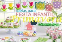 festa infantil tema Primavera