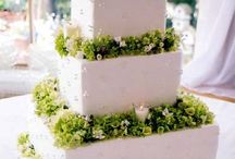 Cakes and flowers / Wedding cakes with flowers and foliage