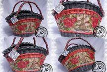 Pletení z papíru - kabelky