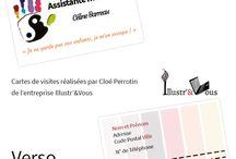 Cartes de visite _ Commande Print via Cloé Perrotin