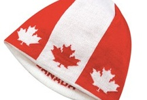 Oh Canada / Red and white hats promoting Canada