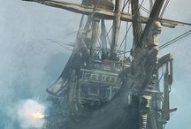 Ghost ships and pirates....