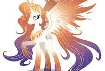 mother of princess celestia and luna is queen galaxia