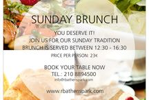 Sunday Brunch / A Sunday tradition at Radisson Blu Park Hotel Athens