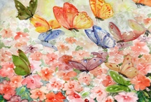 Flowerscapes / Watercolor Paintings