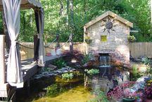 Garden Pond Waterfall Design / by Becca