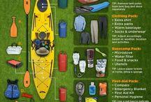 kayaking, camping, hiking, etc