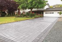 Permeable Pavers Hardscapes / Various permeable pavers hardscape installations.