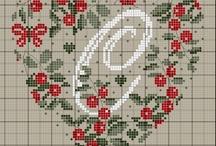Monogramy ,Alfabety -haft krzyżykowy