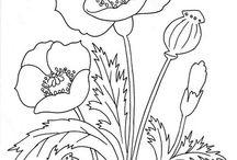 kwiaty szablon