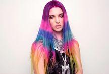 cabelos que amamos ! / este painel monstra alguns cabelos coloridos super bonitos ! também para servir de inspiração para quem quer deixar as madeixas coloridas ! um big beijo <3