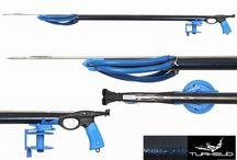 spearfishing / reels , carbon fins , belts